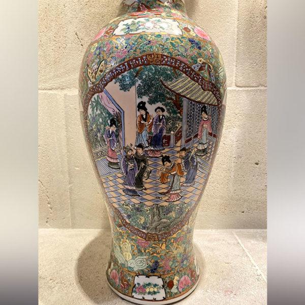 Jarre chinoise en porcelaine