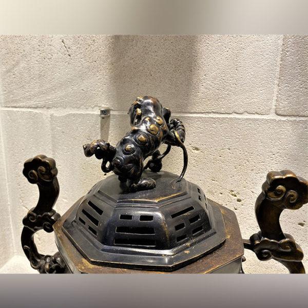 Brûle parfum chinois en bronze